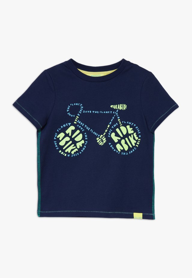 RIDE A BIKE TEE GLOW IN THE DARK - T-shirt med print - classic navy