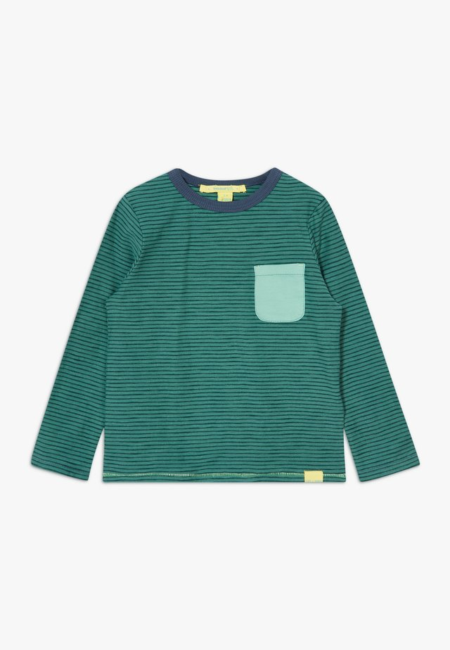 TOMMY STRIPED TEE - Long sleeved top - field green
