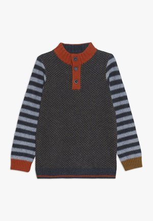 ALFIE FUNNEL NECK JUMPER - Strikpullover /Striktrøjer - beetle blue