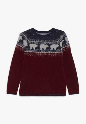 BEAR FAIRISLE JUMPER - Pullover - berry