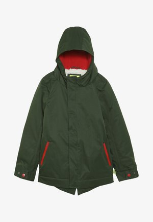 PUDDLE COAT - Parka - khaki/red