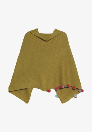 KIDS PENNY PONCHO - Cape - yellow/pink