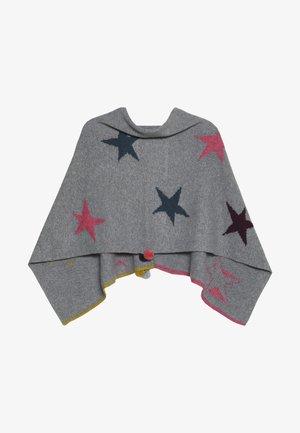 PAPER STARS PONCHO - Kapper - grey/pink