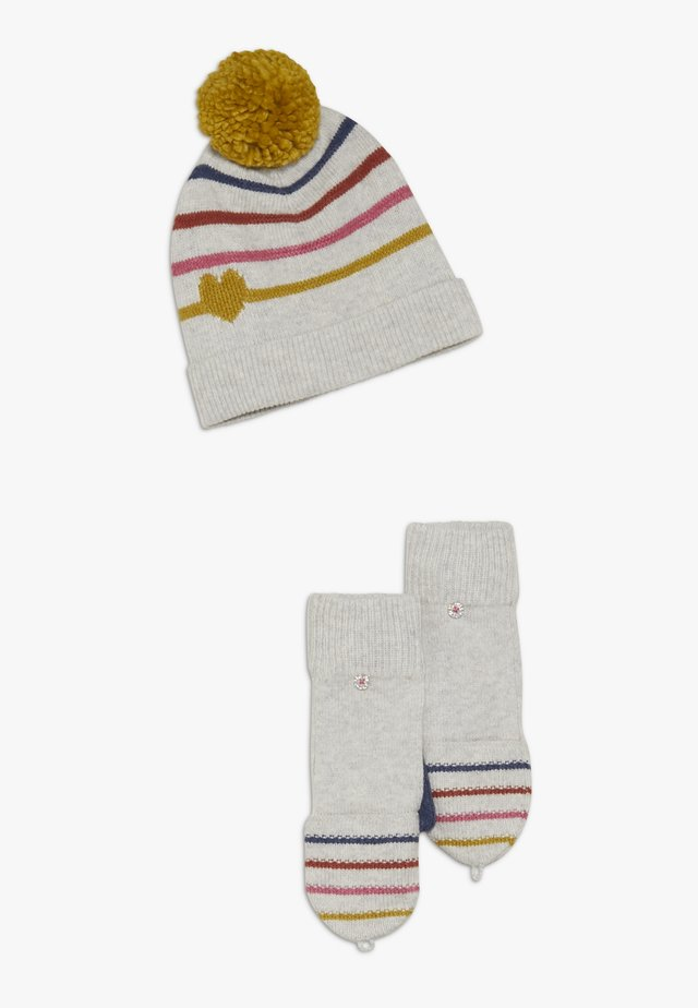 KIDS HEARTS AND HAT FLIPMITT SET - Lue - multicolred
