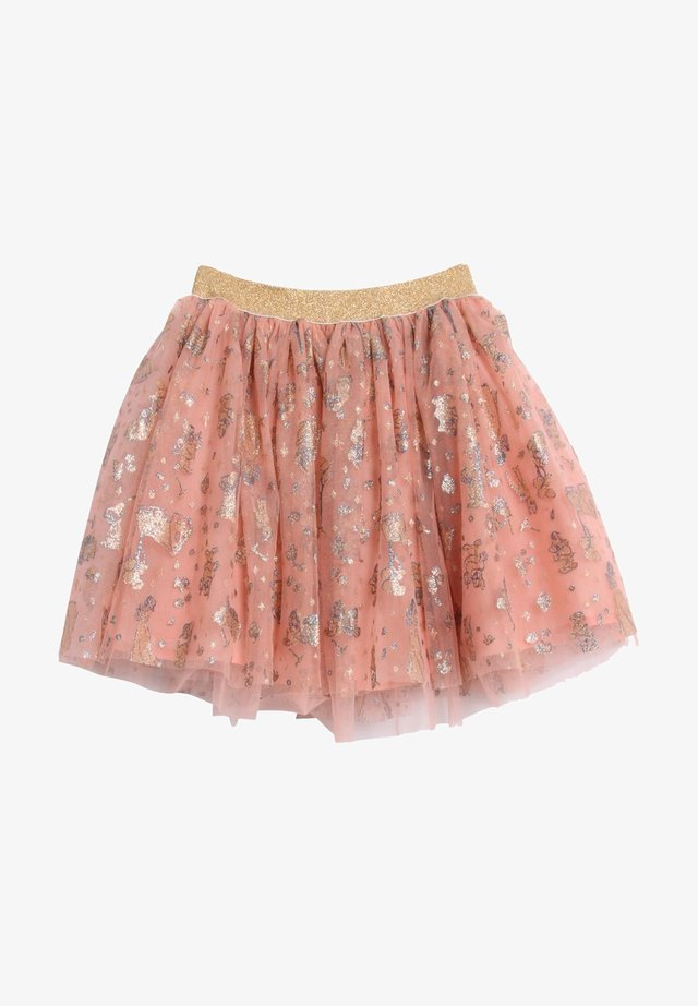 Pleated skirt - soft red