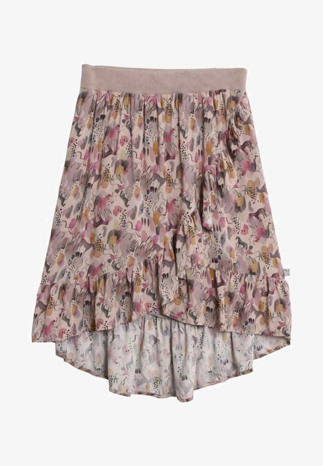 BETRI - Pleated skirt - dim rose