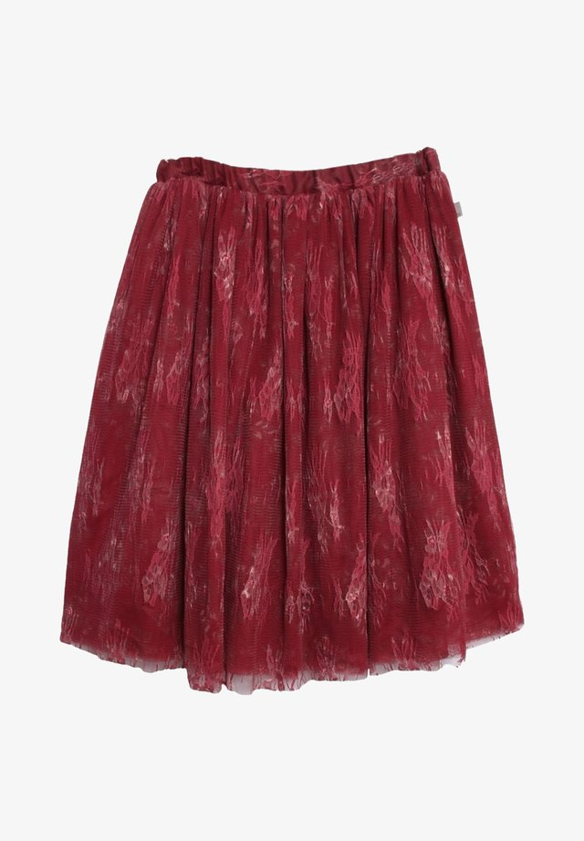 A-line skirt - dark berry