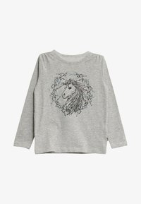 Wheat - FLOWER HORSE - Long sleeved top - soft melange grey - 0