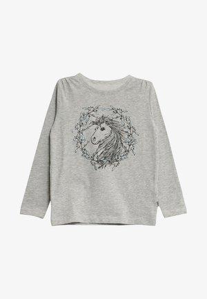 FLOWER HORSE - Long sleeved top - soft melange grey