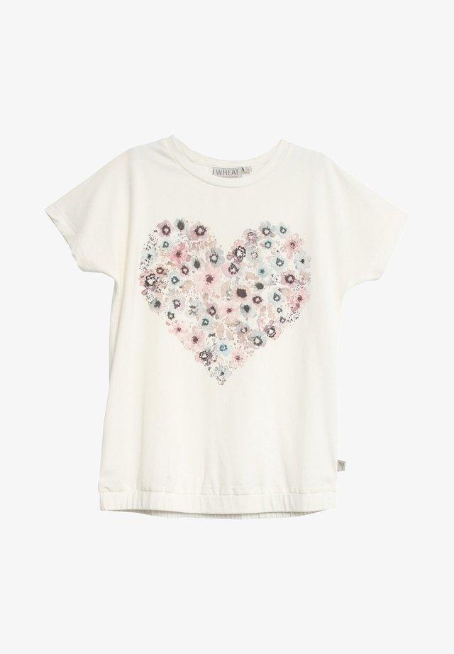 Print T-shirt - ivory