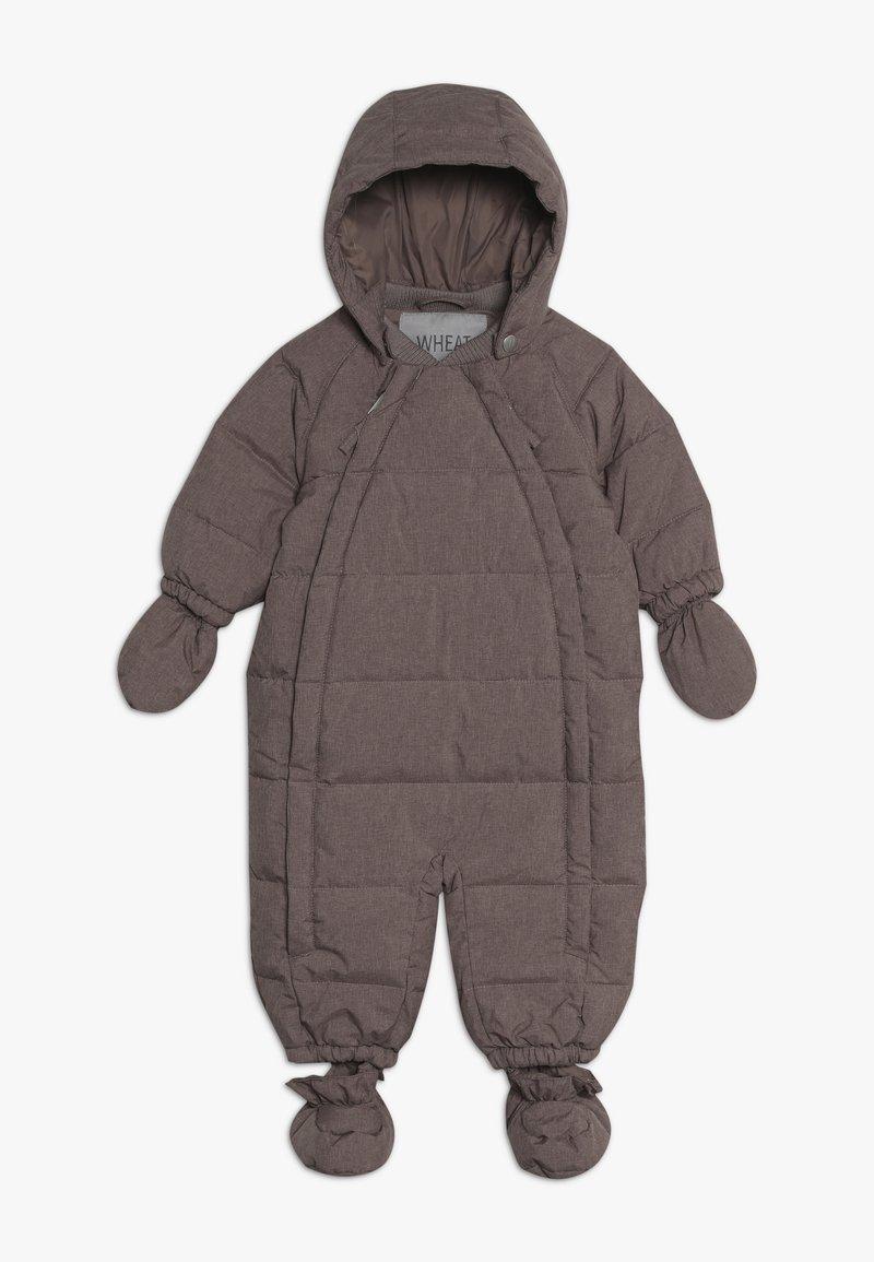 Wheat - BABY SUIT  - Mono para la nieve - plum melange