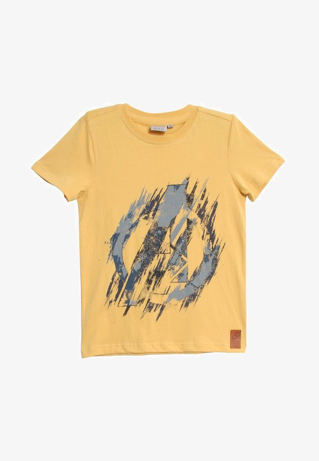 AVENGERS - Print T-shirt - yellow