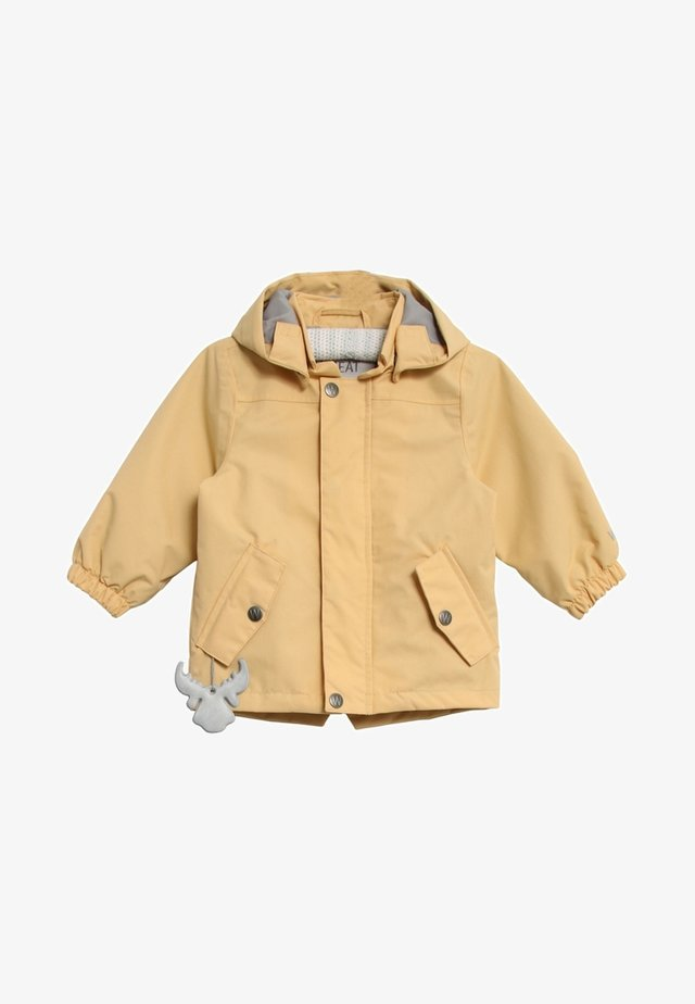 VALTER - Waterproof jacket - new wheat