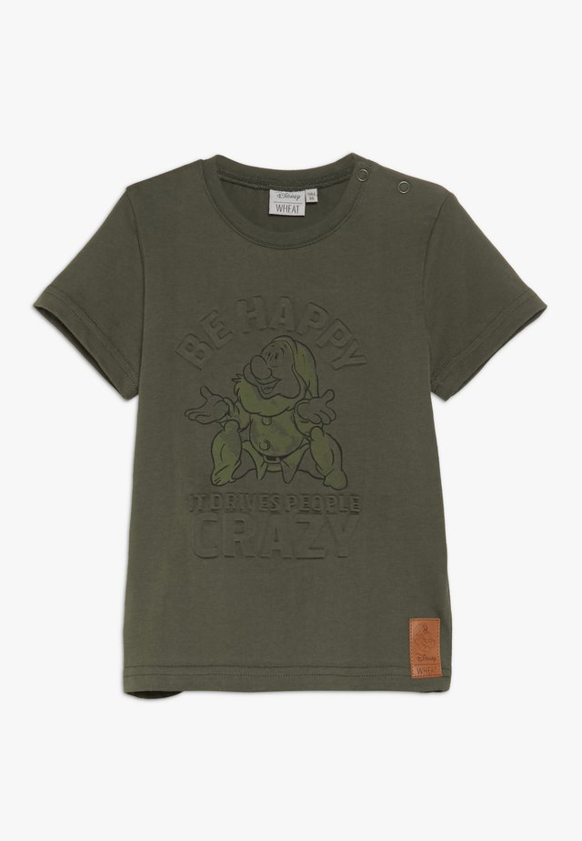 HAPPY BABY - T-shirt med print - army leaf