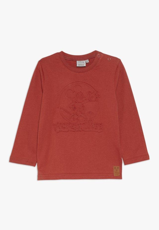 MICKEY EMBOSSED BABY - Langarmshirt - red