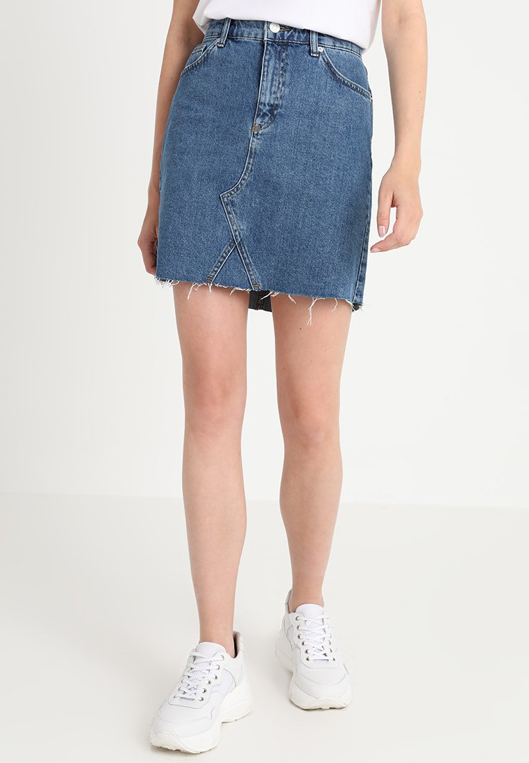 WHY7 - EMMA - Spódnica trapezowa - mid blue