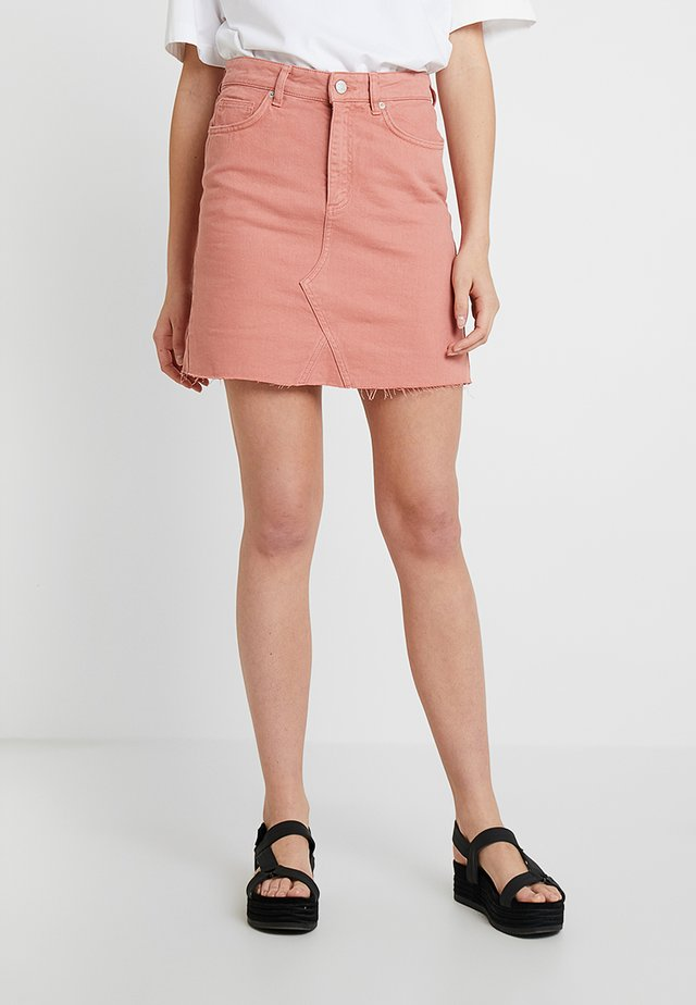 EMMA RAW SKIRT - A-Linien-Rock - rose