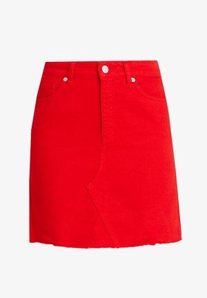 EMMA RAW SKIRT - A-line skirt - red