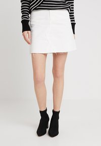 WHY7 - EMMA RAW SKIRT - A-snit nederdel/ A-formede nederdele - white - 0