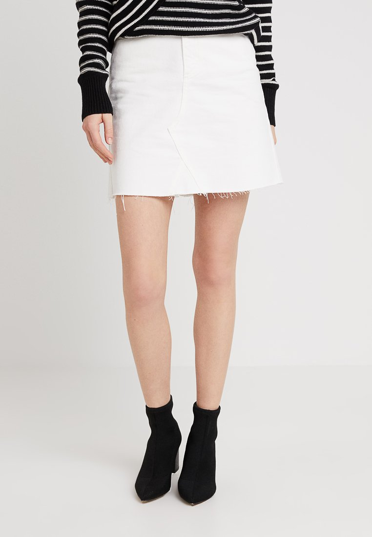 WHY7 - EMMA RAW SKIRT - A-Linien-Rock - white