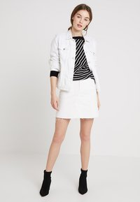 WHY7 - EMMA RAW SKIRT - A-snit nederdel/ A-formede nederdele - white - 1