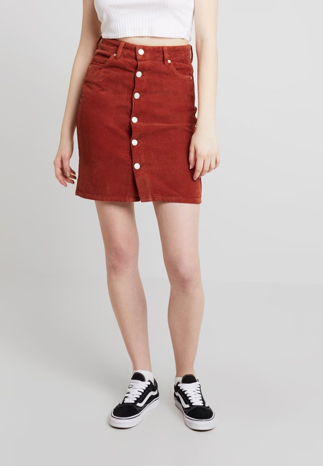 DANI SKIRT - A-Linien-Rock - rust