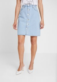 WHY7 - DANI SKIRT - A-line skirt - bright blue - 0