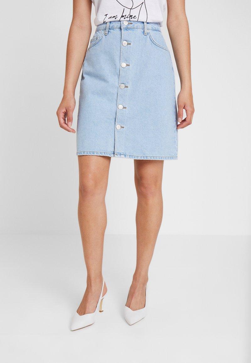 WHY7 - DANI SKIRT - A-Linien-Rock - bright blue