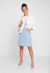 WHY7 - DANI SKIRT - A-line skirt - bright blue - 1
