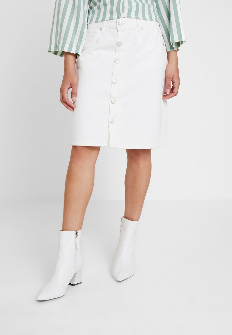 WHY7 - DANI SKIRT - A-Linien-Rock - white