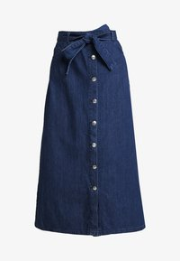 WHY7 - DEBRA LONG SKIRT - A-snit nederdel/ A-formede nederdele - mid blue - 3