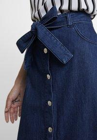 WHY7 - DEBRA LONG SKIRT - A-snit nederdel/ A-formede nederdele - mid blue - 4