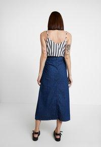 WHY7 - DEBRA LONG SKIRT - A-snit nederdel/ A-formede nederdele - mid blue - 2