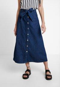 WHY7 - DEBRA LONG SKIRT - A-snit nederdel/ A-formede nederdele - mid blue - 0
