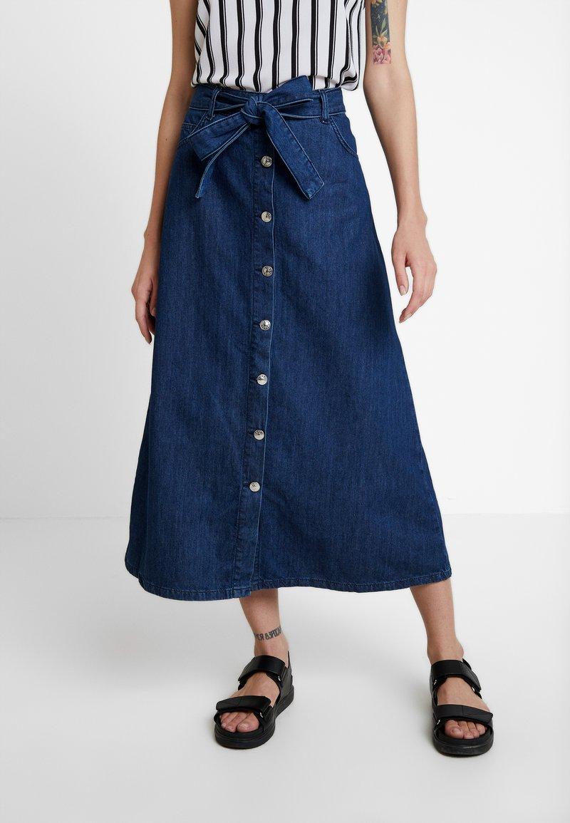 WHY7 - DEBRA LONG SKIRT - A-snit nederdel/ A-formede nederdele - mid blue