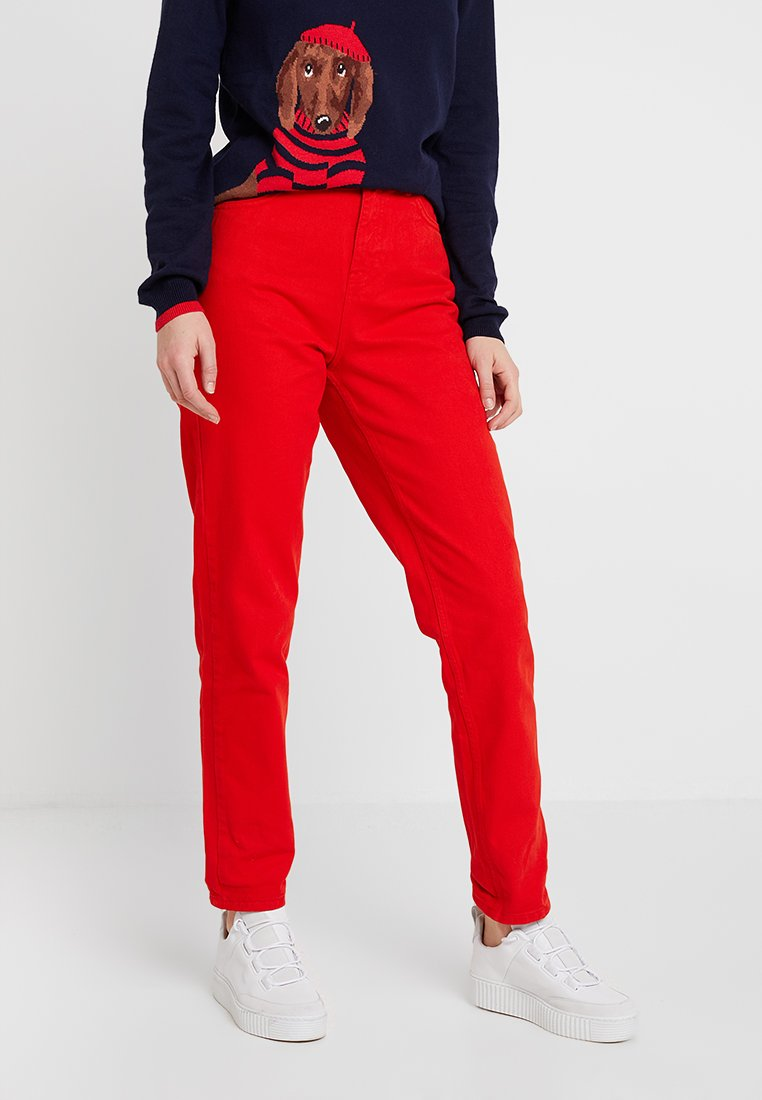 WHY7 - DANA MOM - Relaxed fit jeans - red
