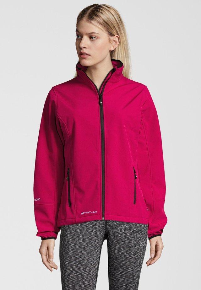 MIT WASSERDICHTER ZWISCHENMEMBRAN - Soft shell jacket - red