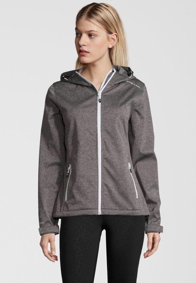 Soft shell jacket - light grey melange