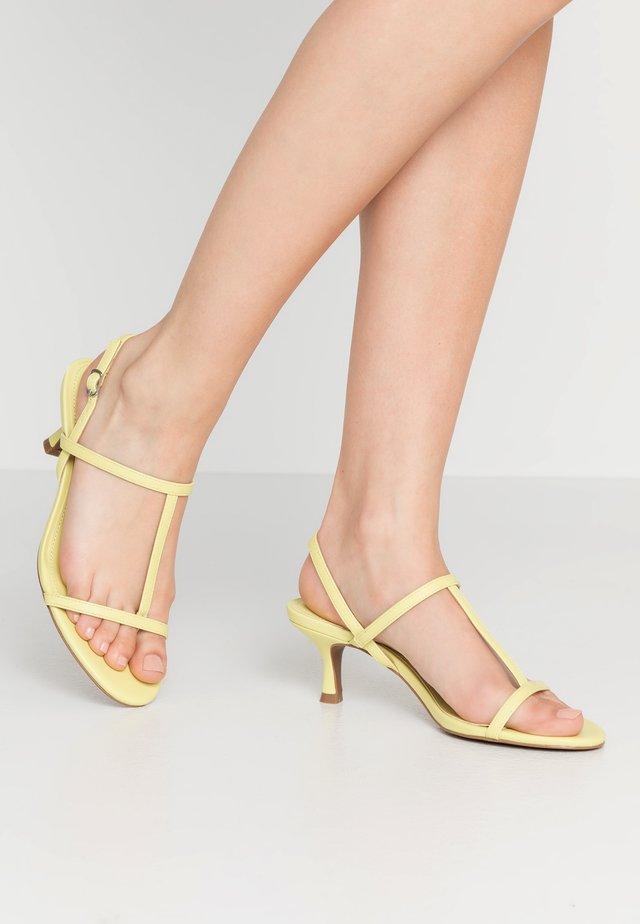 ROMI - T-bar sandals - limeade lizard