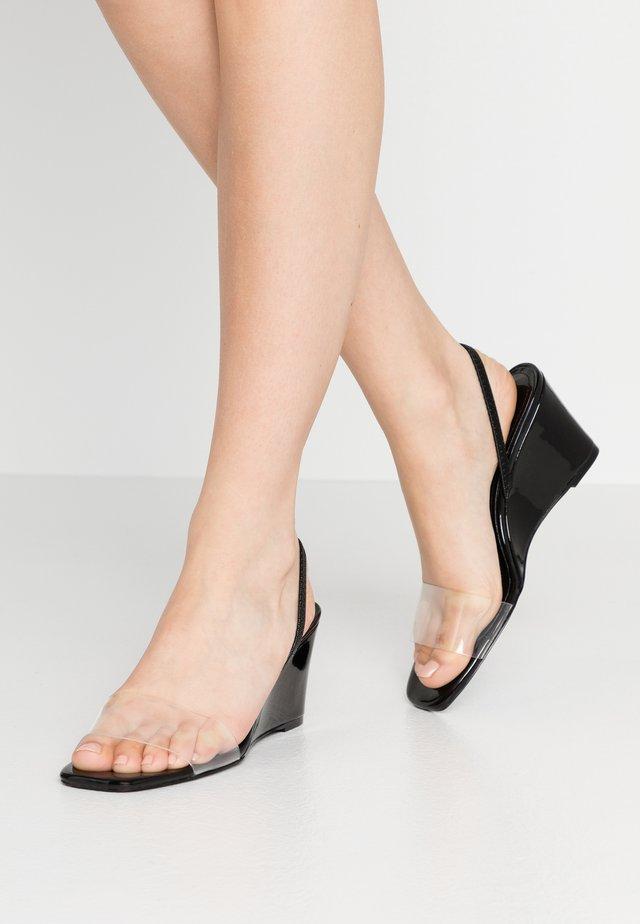 THALIA - Slip-ins med klack - black