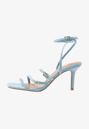 EVERLY - Sandalen met hoge hak - sky blue