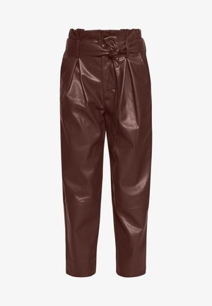 TIE TROUSERS - Bukse - coffee