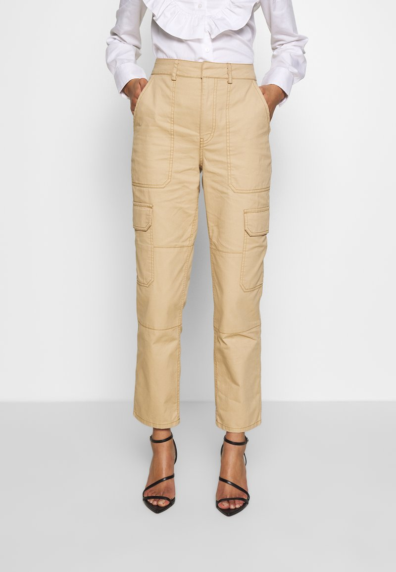 Who What Wear - THE UTILITYPANT - Trousers - sand