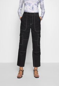 Who What Wear - THE UTILITYPANT - Bukse - black - 0
