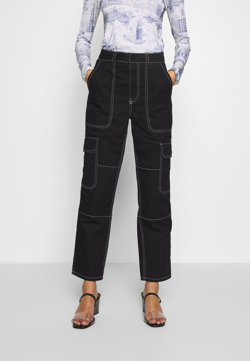 Who What Wear - THE UTILITYPANT - Bukse - black