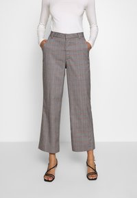 Who What Wear - THE CROPPED TROUSER - Tygbyxor - grey - 0