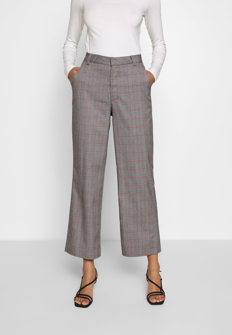 Who What Wear - THE CROPPED TROUSER - Tygbyxor - grey