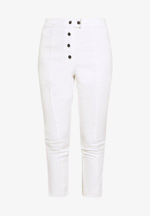 THE HIGH WAISTED BUTTON FLY CROPPED TROUSER - Bukse - white