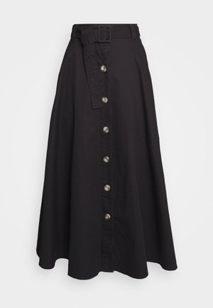 THE BELTED CIRCLE SKIRT - A-linjekjol - black
