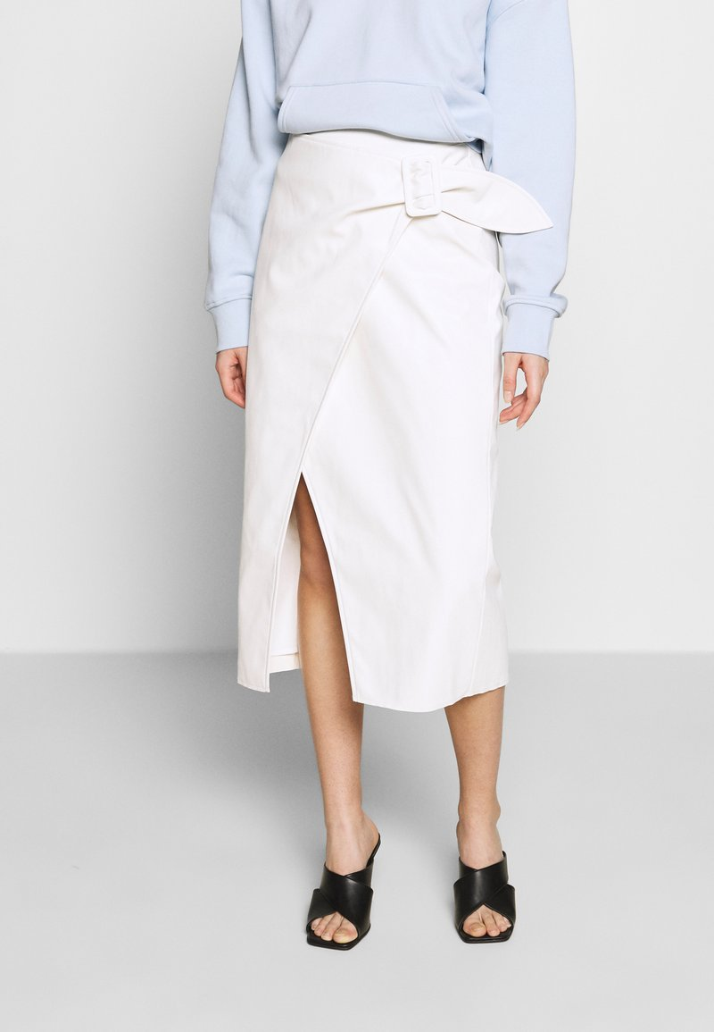 Who What Wear - THE VEGAN SARONG SKIRT - A-linjekjol - parchment